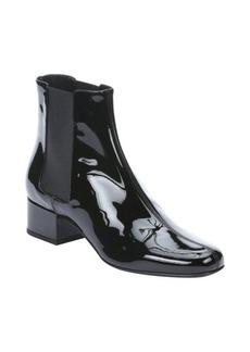 Saint Laurent black leather 'Vitello Vernice Soft' split seam chelsea boots