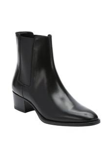 Saint Laurent black leather 'Wyatt 40' chelsea ankle booties