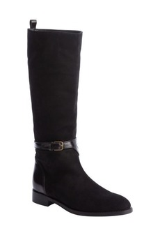 Saint Laurent black 'New Chyc 15 Booties' leather suede buckle boots