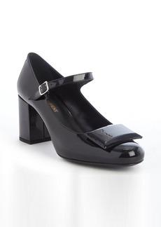 Saint Laurent black patent leather mary-jane pumps