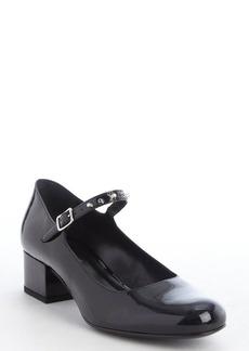 Saint Laurent black patent leather mary-jane strap pumps