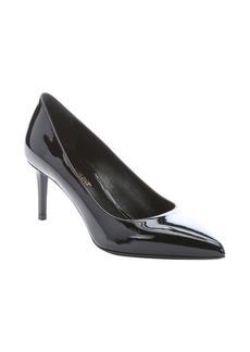 Saint Laurent black patent leather 'Paris' pumps