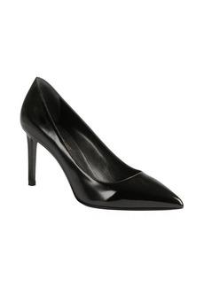Saint Laurent black patent leather pointed toe pumps