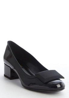 Saint Laurent black patent leather pumps