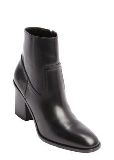 Saint Laurent black patent leather zipper detail ankle boots