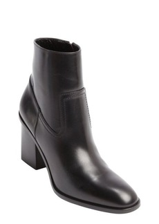 Saint Laurent black patent leather zipper detail ankle boots