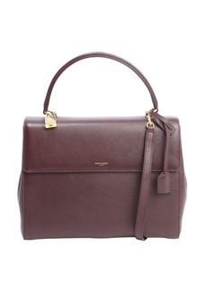Saint Laurent bordeaux leather medium 'Moujik' convertible bag