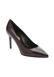 Saint Laurent bordeaux leather 'Paris' stiletto pumps