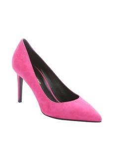 Saint Laurent bubblegum pink suede pointed toe pumps