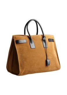 Saint Laurent camel suede 'Sac De Jour' top handle bag