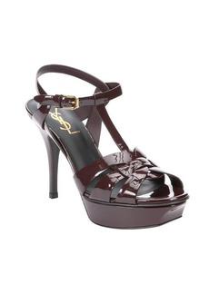 Saint Laurent cordovan patent leather 'Tribute' platform sandals