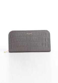 Saint Laurent earth leather zip continental wallet