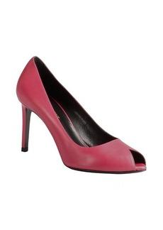 Saint Laurent french rose leather classic peep toe pump