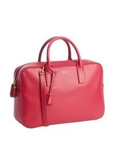 Saint Laurent fuchsia leather bowler bag