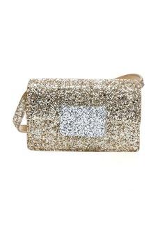 Saint Laurent gold and silver glitter 'Lulu Bunny' small shoulder bag