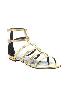 Saint Laurent gold metallic leather gladiator sandals