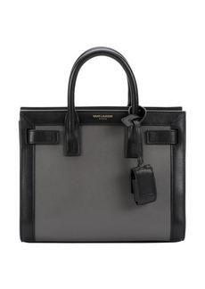 Saint Laurent grey and black leather 'Sac De Jour' mini convertible satchel