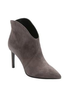 Saint Laurent grey suede 'Paris' stiletto ankle booties