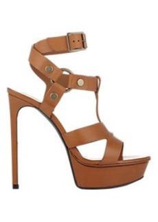 Saint Laurent Harness-Strap Bianca Platform Sandals