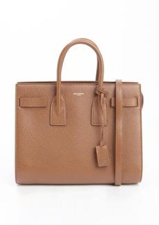 Saint Laurent havana brown leather 'Sac De Jour' small convertible top handle tote