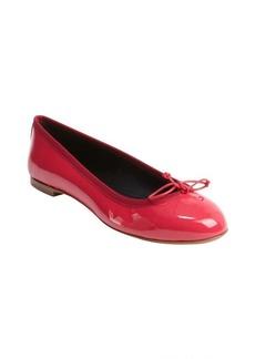 Saint Laurent hot pink patent leather bow tie detail ballet flats