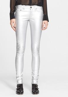 Saint Laurent Lamé Skinny Pants