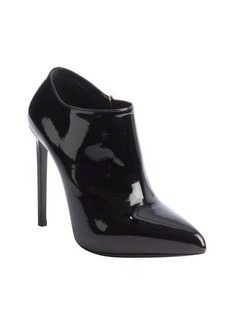 Saint Laurent leather patent leather ankle booties