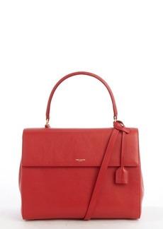 Saint Laurent lipstick red leather medium 'Moujik' convertible bag