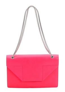 Saint Laurent neon pink leather medium 'Betty' shoulder bag