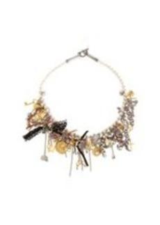 Saint Laurent Pearl Charm Necklace