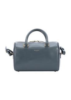 Saint Laurent petrol leather convertible mini duffle bag