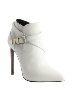 Saint Laurent porcelain leather wraparound detail heel booties
