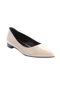 Saint Laurent powder patent leather 'Classic Paris' pointed toe ballerina flats