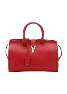 Saint Laurent red leather 'Cabas Y' top handle tote