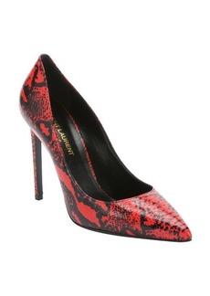 Saint Laurent red snake embossed leather 'Paris 105' stiletto pumps