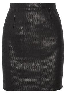 Saint Laurent Sequined crepe mini skirt