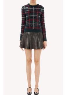 Saint Laurent Sequined Tartan Sweater