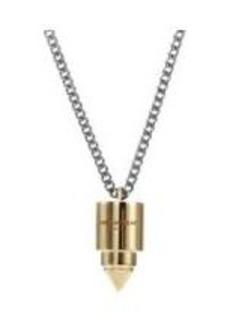 Saint Laurent Silver & Gold Punk Bullet Pendant Necklace