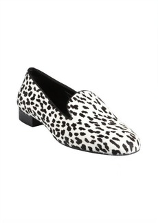 Saint Laurent snow leopard printed pony hair and leather loafers