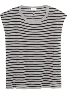 Saint Laurent Striped fine-knit wool top