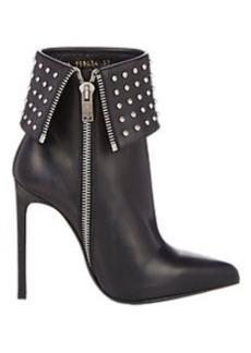 Saint Laurent Studded Paris Ankle Boots