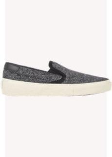 Saint Laurent Tweed Skate Slip-On Sneakers