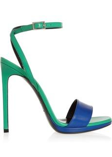 Saint Laurent Two-tone leather sandals