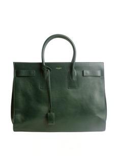 Saint Laurent verde calfskin 'Sac De Jour' top handle bag