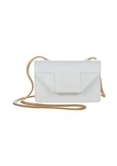 Saint Laurent white leather 'Mini Betty' crossbody bag