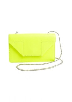 Saint Laurent yellow leather 'Betty' envelope chain shoulder bag