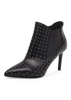 Studded Calfskin Chelsea Boot, Nero   Studded Calfskin Chelsea Boot, Nero