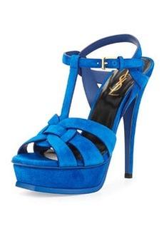 Tribute Suede Platform Sandal, Blue Electric   Tribute Suede Platform Sandal, Blue Electric