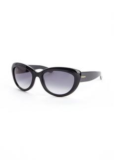 Yves Saint Laurent black acrylic cat eye sunglases
