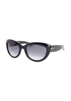 Yves Saint Laurent black acrylic cat eye sunglasses